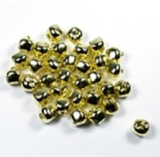 10 x 15mm Gold Bells for Crafts and Toymaking